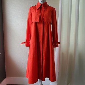 Jackets & Blazers - Vintage Fleet Street Red Long Flowy Trench Coat